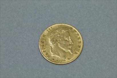 Pièce en or de 5 francs Napoléon tête nue...