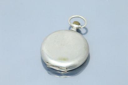 ZENITH  Montre savonnette en métal argenté,...