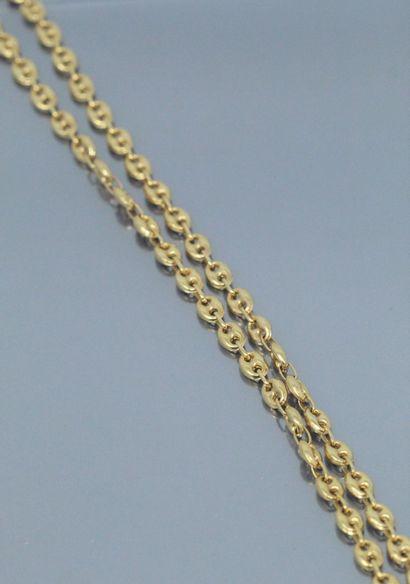 Collier en or jaune 18k (750) à maille grain...