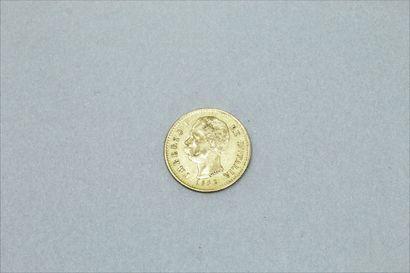 Pièce en or de 20 Lires Umberto Ier, R, 1882....
