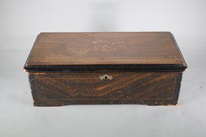Boîte à musique, rouleau de 21 cm (58 lames),...