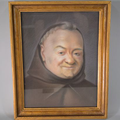 """Raymond CASEZ d'après Maurice QUENTIN de LATOUR  Portrait """" Le Père Emmanuel """"...."""