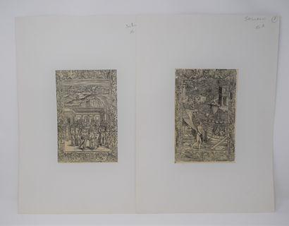 L'ARIOSTE, Roland Furieux.  Deux feuillets...