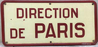 Plaque émaillée directionnelle. DIRECTION...