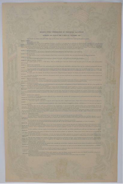 Titre de propriété de 1 pied carré à Chavaillac Lafayette, lieu de naissance du...
