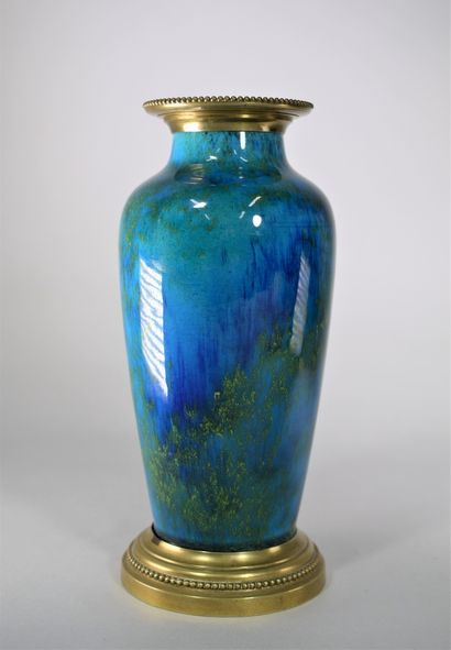 MILET Paul (1870-1950) à Sèvres.  Vase en...