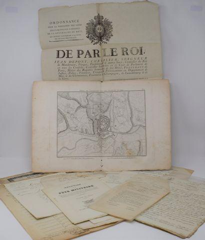 ENSEMBLE de document relatif au 1er empire et Restauration  - Ordonnance pour la...