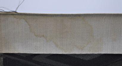 """GIRARDET Jules (1856-1946) d'ap.  Paire de gravures tissées en soie """" les fiancés..."""
