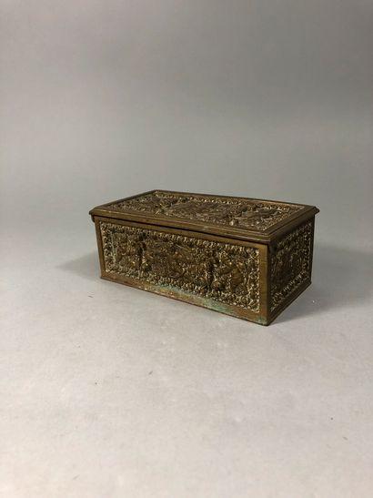 Coffret à bijoux rectangulaire en bronze...
