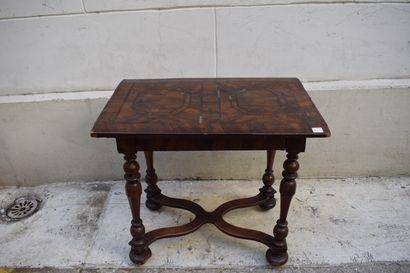 Table de milieu rectangulaire en bois de...