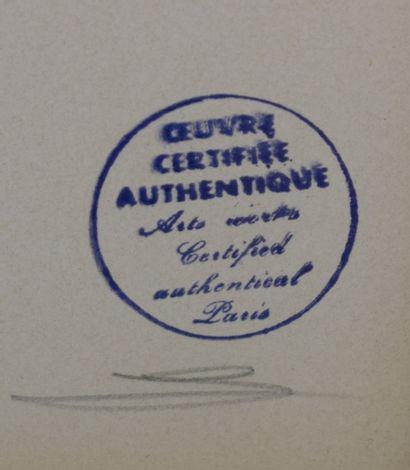 LURCAT Jean (1892 - 1966)  Feuille stylisée, lithographie.  40x25 cm. Cachet au...