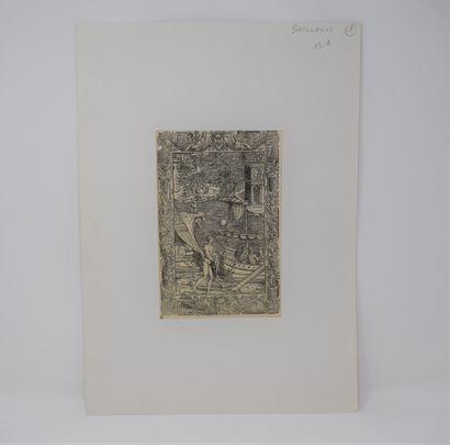 L'ARIOSTE, Roland Furieux.  Deux feuillets probablement Valgrisi, 1562, Venise  -...