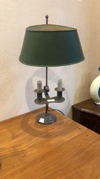Lampe bouillotte abat-jour réglable en tôle...
