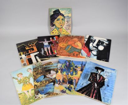 VINS NICOLAS  Neuf catalogues illustrés :...