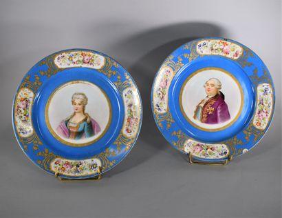 « Louis XVI » « Marie -Antoinette »  Deux...