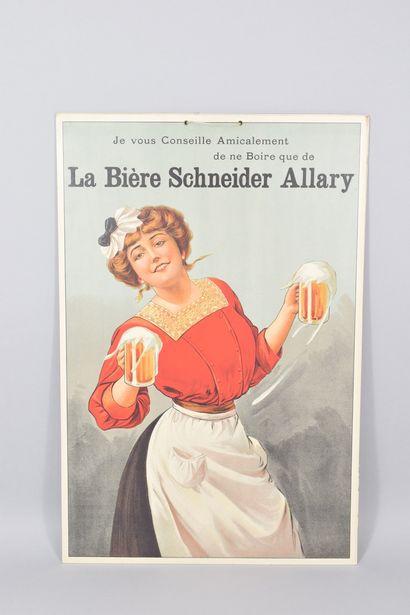 2 cartons publicitaires Bière SCHNEIDER ALLARY....