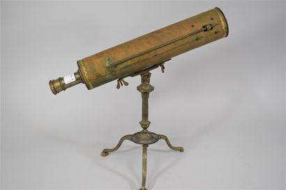 Télescope de modèle grégorien en laiton et...