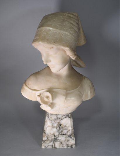 R. PARENT (XIXème-XXème siècle)  Buste de...