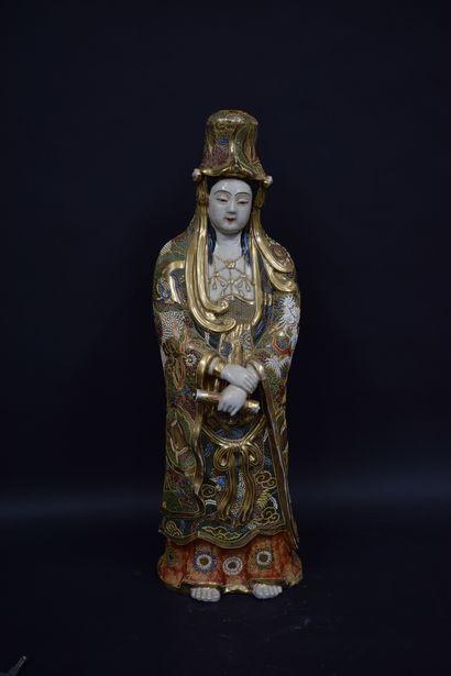 JAPON, vers 1900  Importante divinité en...