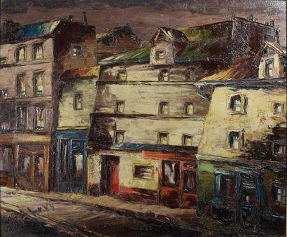 SCHWARZ-ABRYS Léon (1905-1990)  Ménilmontant,...