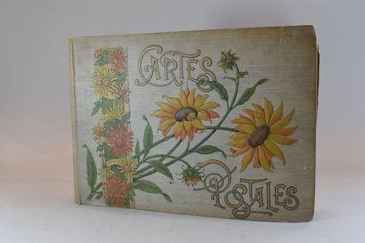 Album de cartes postales fantaisie  Taches...