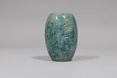 Copie moderne  Vase egyptien à glaçure verte...