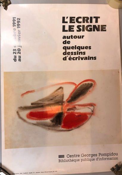 4 lots d'affiches d'expositions de Beaubourg...
