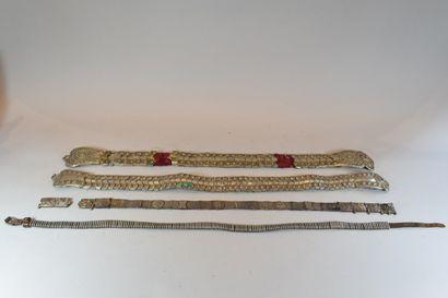 4 ceintures Mogoles dont certaines en ar...