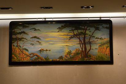 OURTAL Jacques (1868-1962)  Bord de mer  Huile sur toile, signée et datée 1939 en...