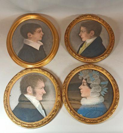 Dans le goût du XVIIIème siècle,  quatre...