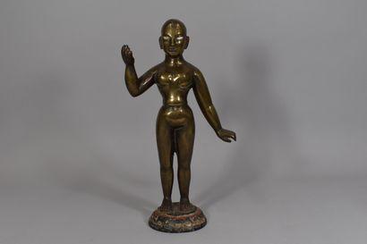 INDE  Statuette d'une divinité type Jain...
