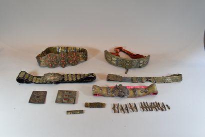 5 ceintures Mogoles dont certaines en ar...