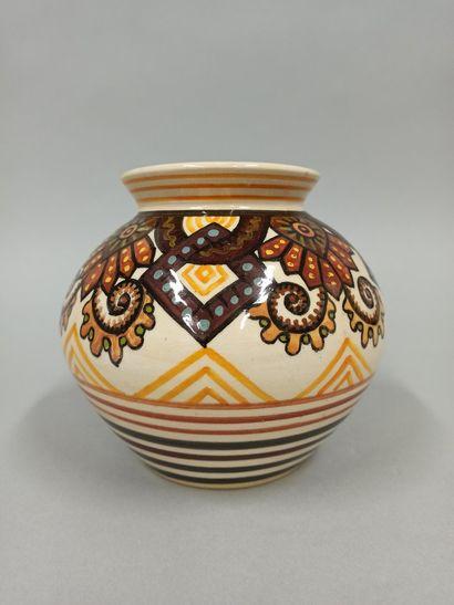 PAUL FOUILLEN (1899-1958)  Vase boule en...