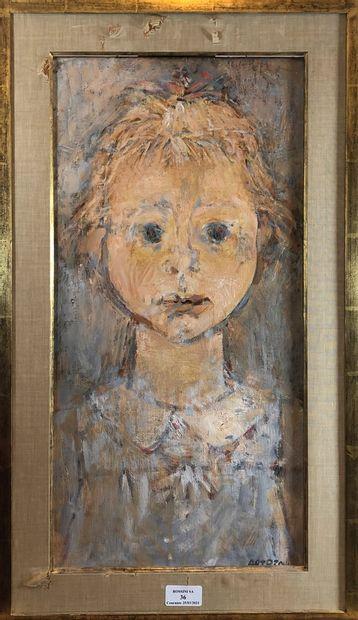 ARTOZOUL René (né 1927)  Portrait  Huile...