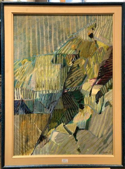 Christian PROSSER  Oblique, 1988,  Technique...