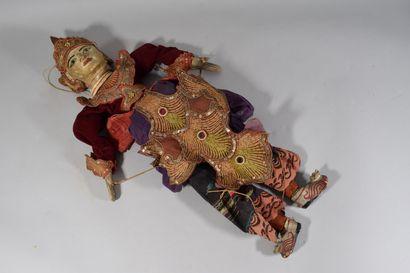 BIRMANIE, Années 1930,  Marionette, tête...