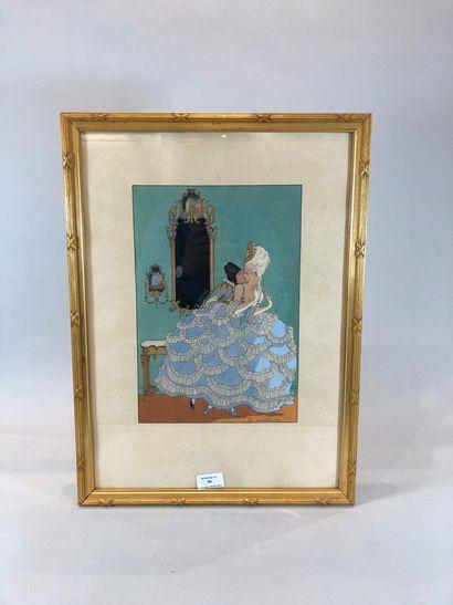 ETTORE Tito (1859-1941)  Arlequin et dame...