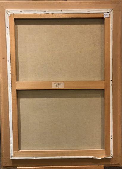 Christian PROSSER  Oblique, 1988,  Technique mixte sur toile, signée en bas à droite...