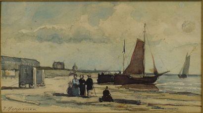 HEPPENER Johannes (1826-1898)   scène de...