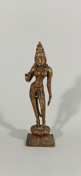 INDE, XXème siècle  Statuette en alliage...