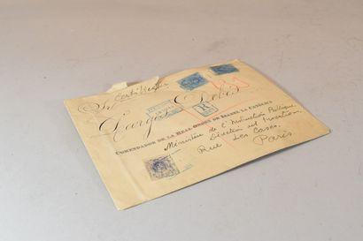 Une lettre d'Espagne.  Recommandé. Beau ...