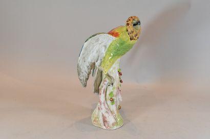 Perroquet en porcelaine de Paris  Égrenu...