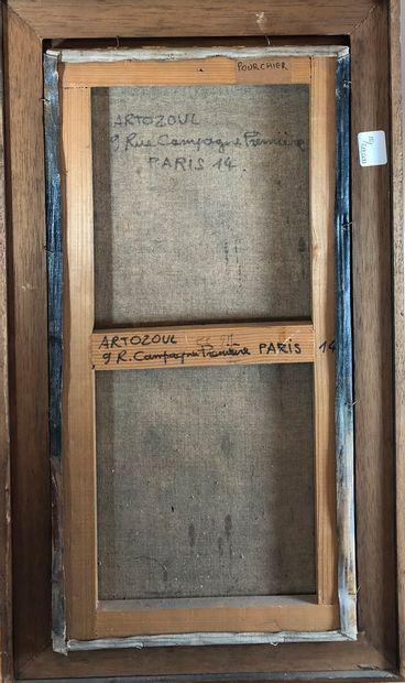 ARTOZOUL René (né 1927)  Portrait  Huile sur toile, signée en bas à droite  H.:...