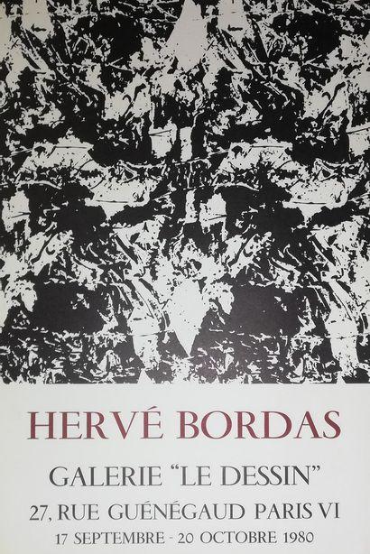 """BORDAS  Galerie """"Le Dessin""""1980  Affiche originale lithographie Mourlot.  62x42..."""