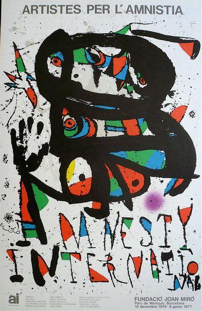 CHILLIDA Eduardo  Affiche en Lithographie...