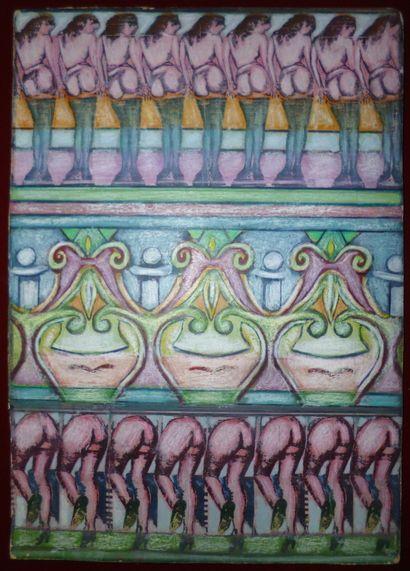 DORS Mirabelle  Oeuvre Originale  Pastel...