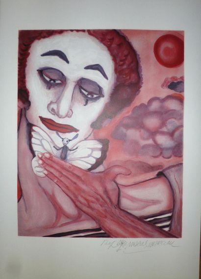 MARCEAU Marcel  « Mime Marceau » lithographie...