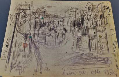 PARIS Gabriel  Auvers-sur-Oise 1952  mine...
