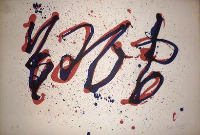 CORTOT Jean  Lithographie « Ubu » signée...