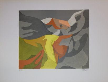PERRE Daniel  1966  Lithographie sur papier....